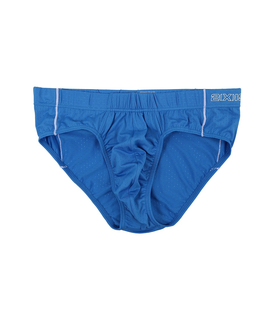 2(X)IST - Cross Trainer No Show Brief (Pro Blue) Men's Underwear