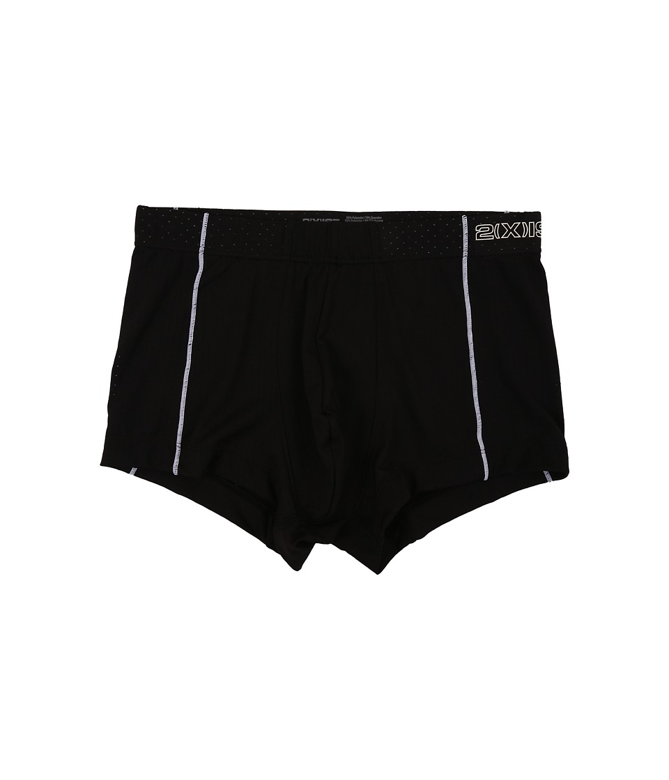 2(X)IST - Cross Trainer No Show Trunk (Black) Men's Underwear