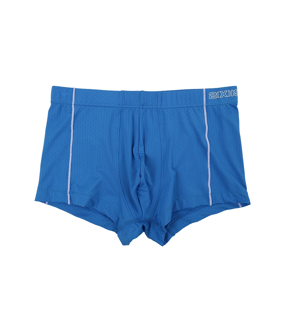 2(X)IST - Cross Trainer No Show Trunk (Pro Blue) Men's Underwear