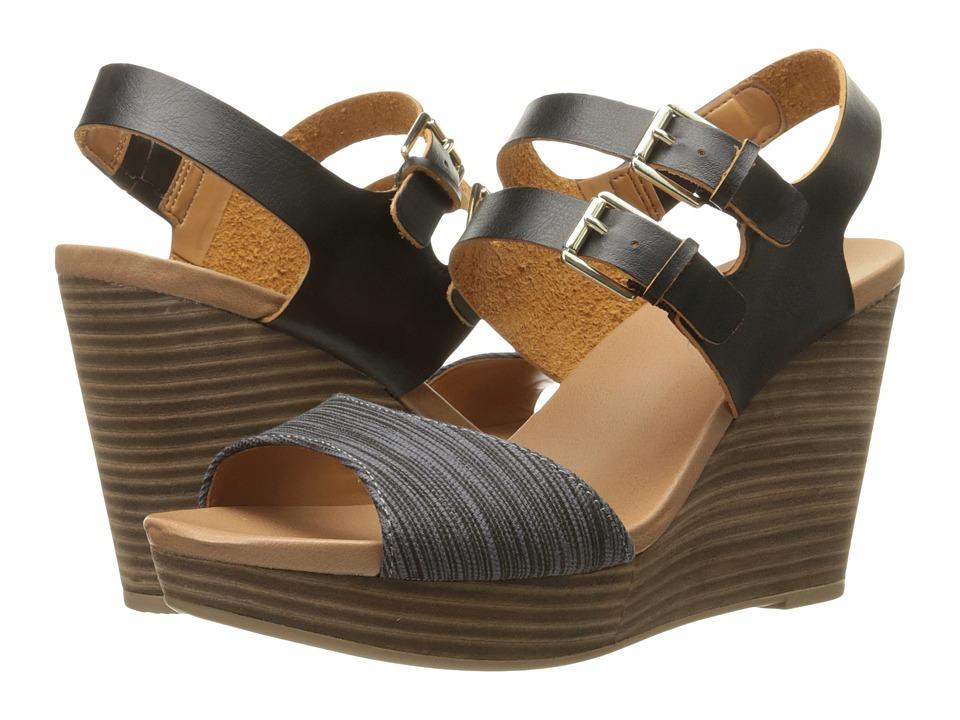 Dr. Scholl's - Mashup (Black/Black Grey Harmony Stripe) Women's Shoes