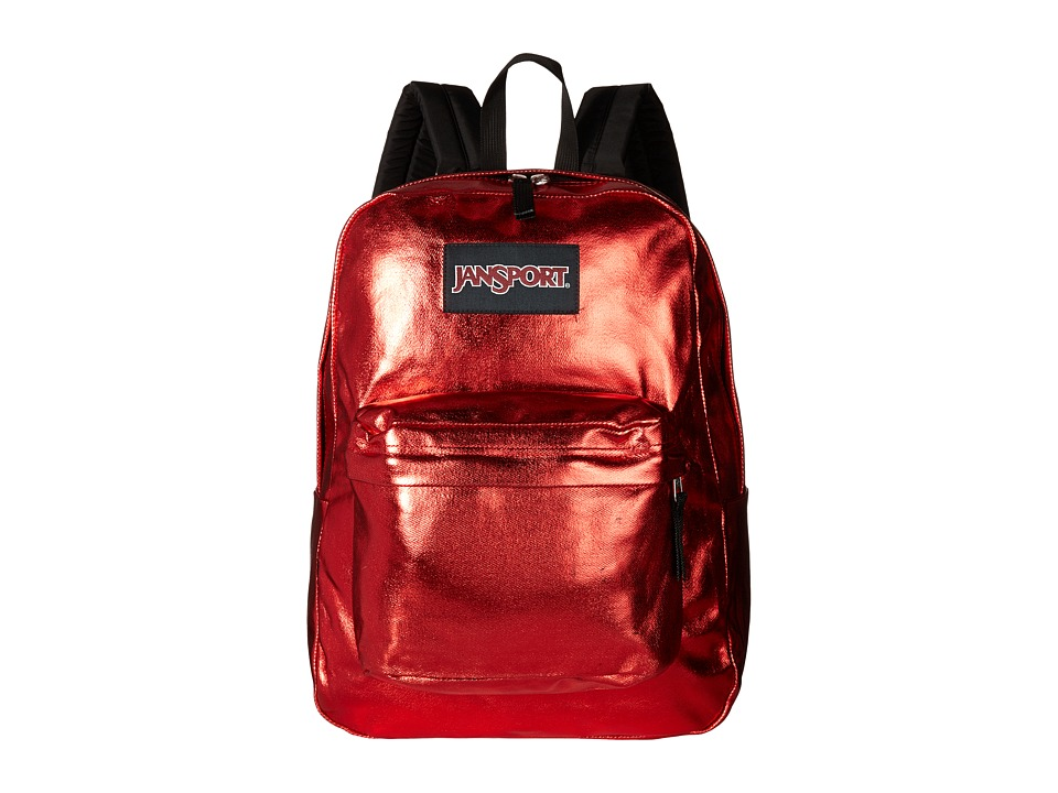 JanSport - Super FX (Red Metallic Coat) Backpack Bags