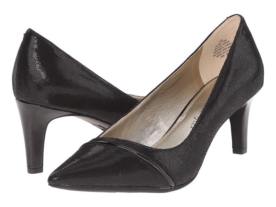 Anne Klein AKBettina (Black/Black Fabric) Women