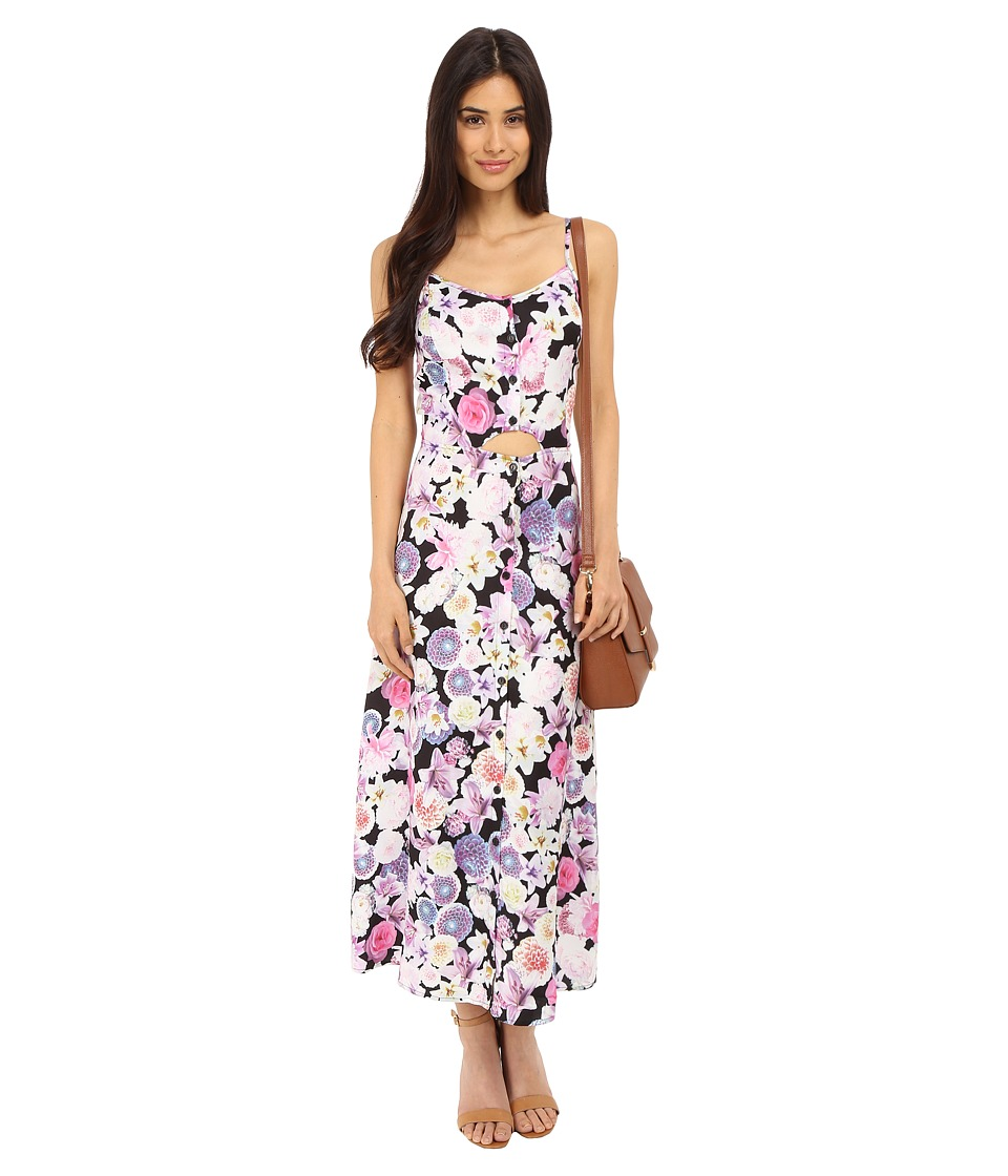 kensie Romantic Florals Dress KS5K907S (Black Combo) Women