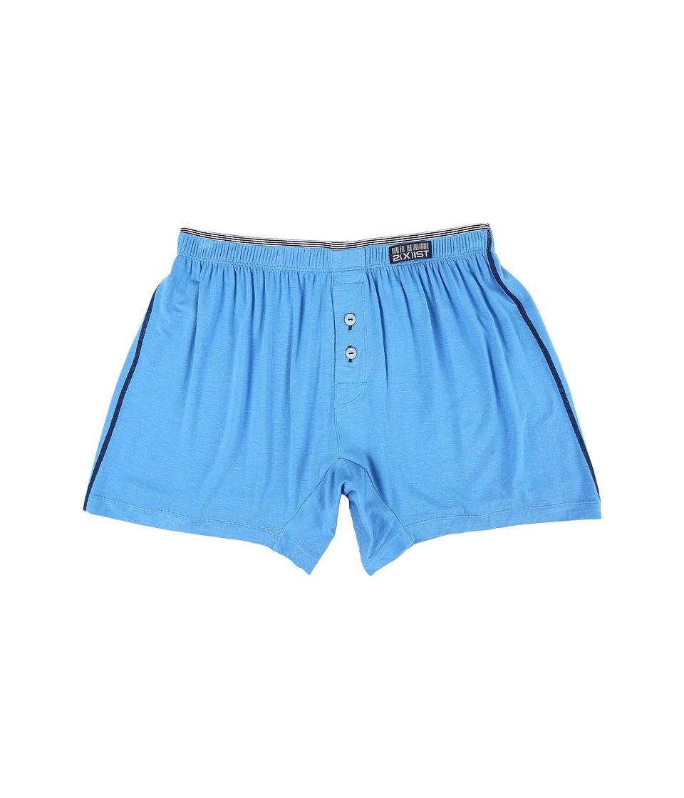 2(X)IST - Barcode Modal Knit Boxer (Aero Blue) Men's Underwear