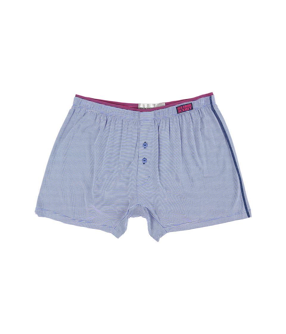 2(X)IST - Barcode Modal Knit Boxer (Dazzling Blue) Men's Underwear