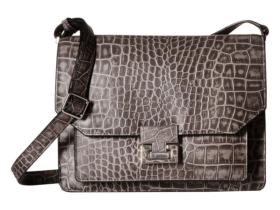 Ivanka Trump - Hopewell Shoulder Flap (Charcoal) Cross Body Handbags