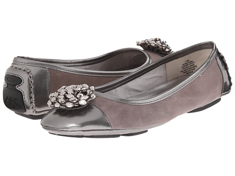 Anne Klein - AKBloomia (Grey/Pewter Suede) Women's Shoes