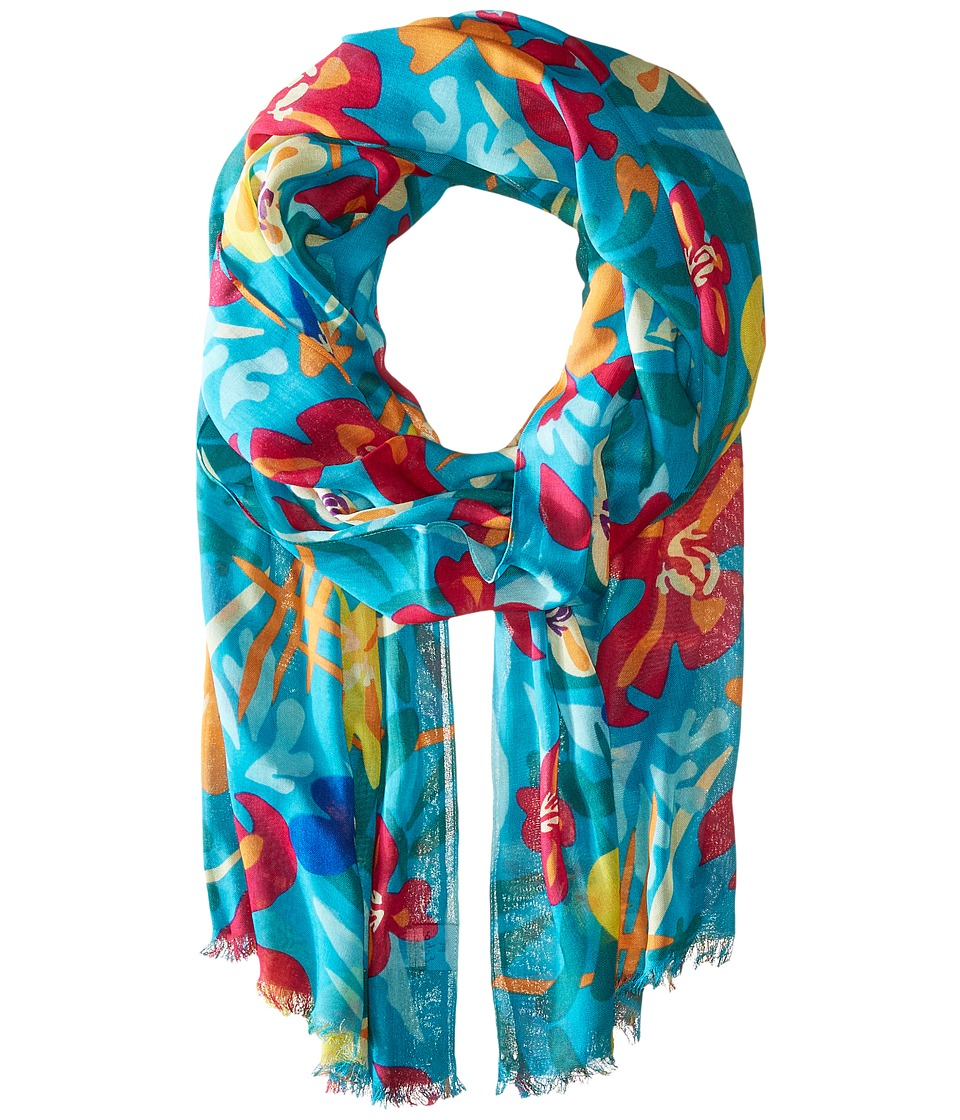 Echo Design - Sweet Violets Scarf (Pacific Teal) Scarves