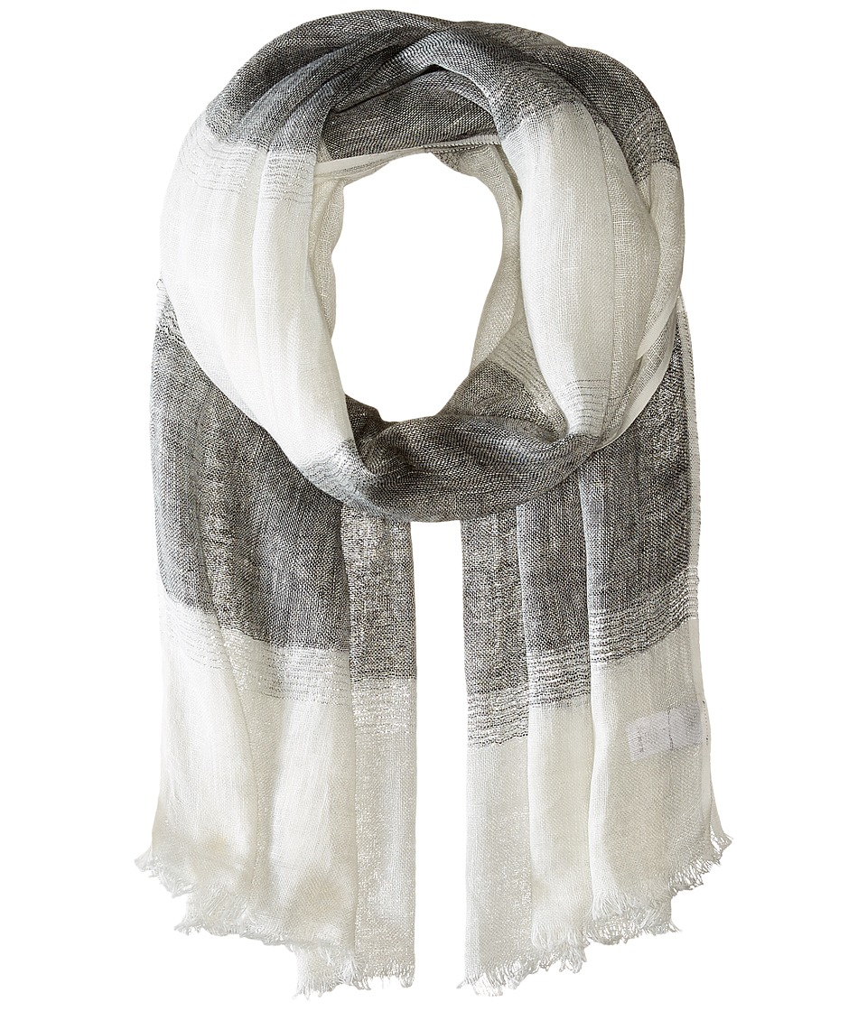 Echo Design - Lurex Stripe Wrap Scarf (Black) Scarves