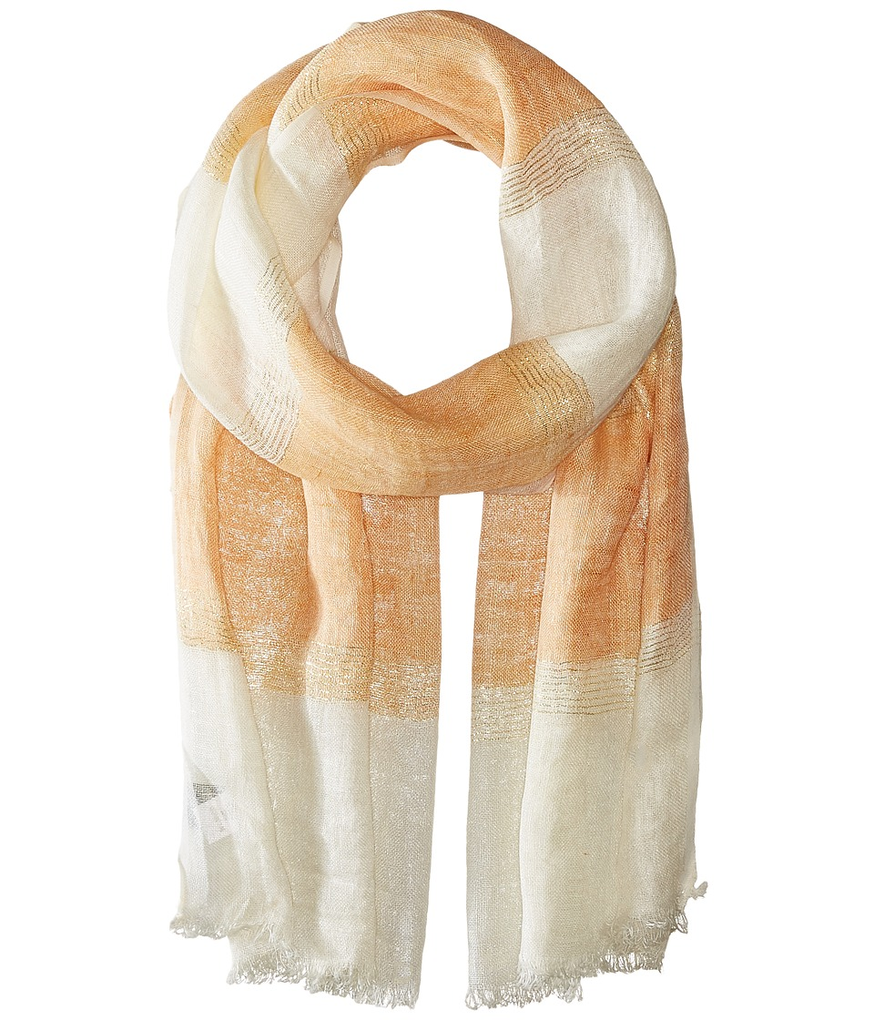 Echo Design - Lurex Stripe Wrap Scarf (Ripe Mango) Scarves