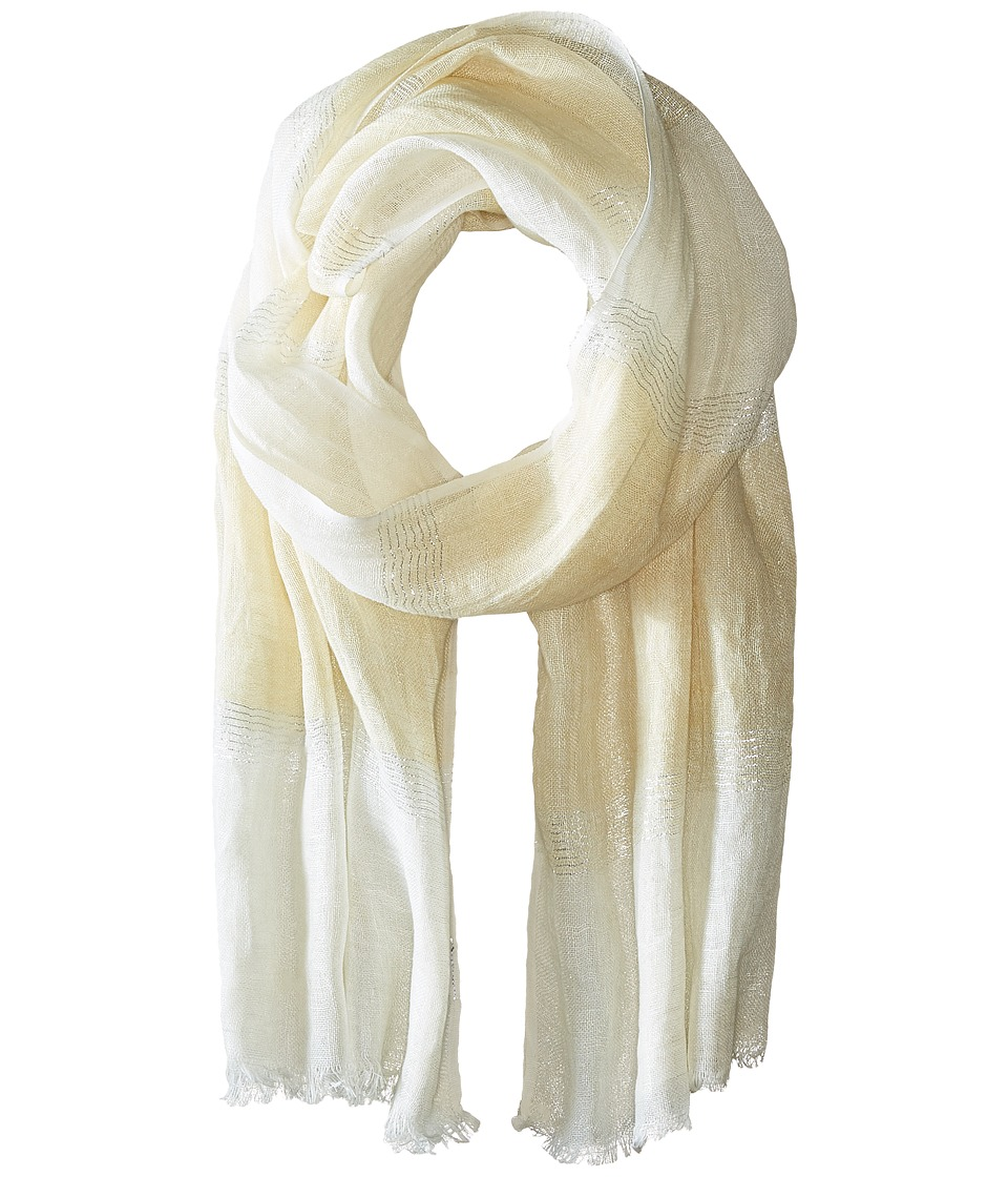 Echo Design - Lurex Stripe Wrap Scarf (Fine Sand) Scarves
