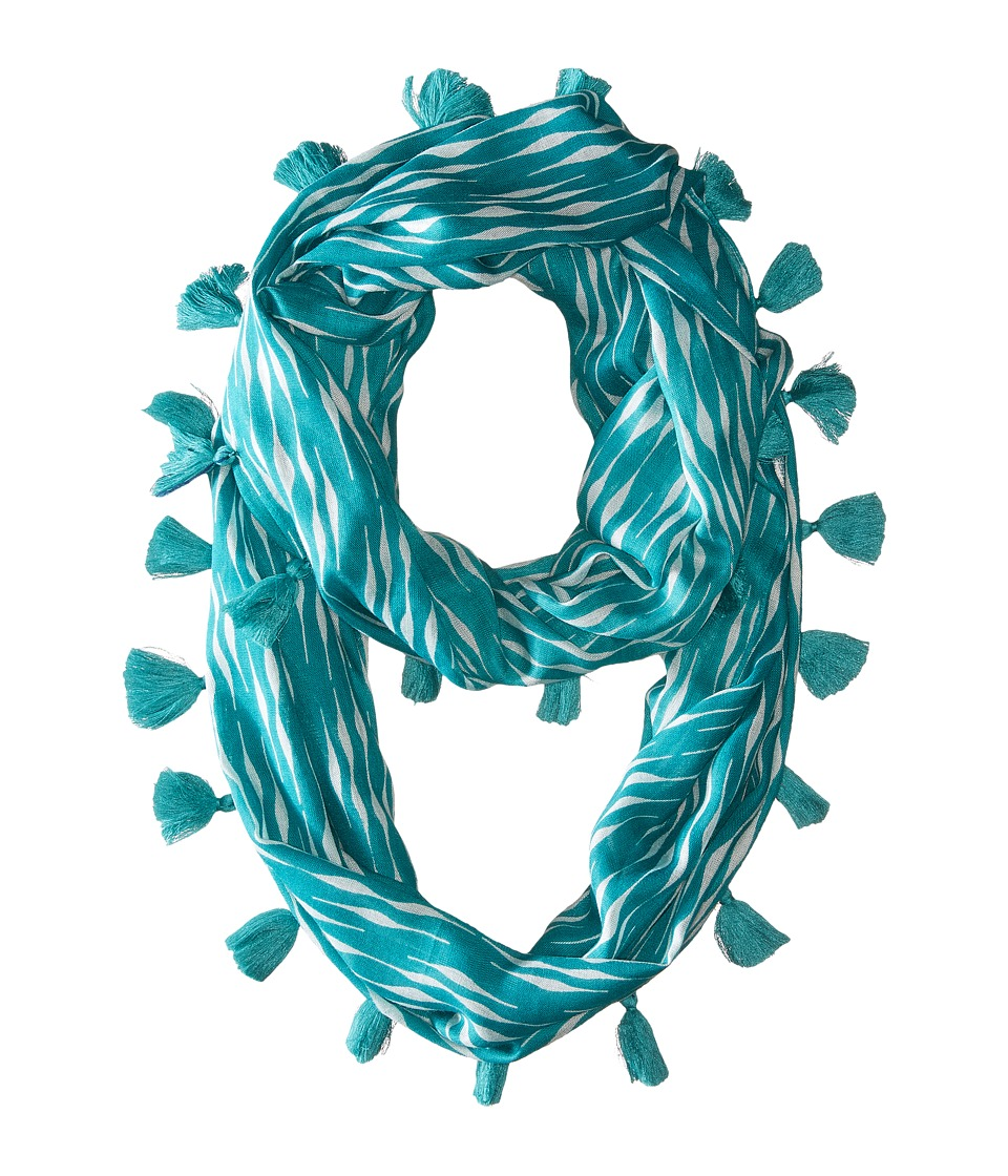 Echo Design - Circular Waves Loop Scarf (Caribbean Blue) Scarves