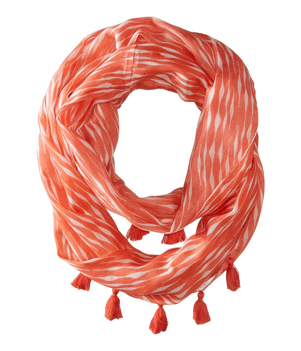 Echo Design - Circular Waves Loop Scarf (Bright Coral) Scarves