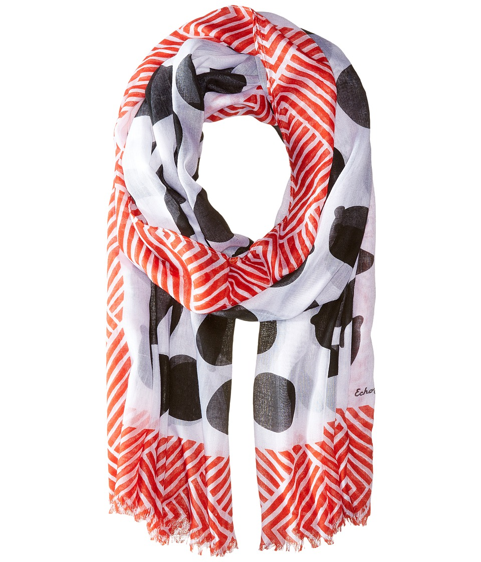 Echo Design - Tutti Frutti Wrap (Black) Scarves