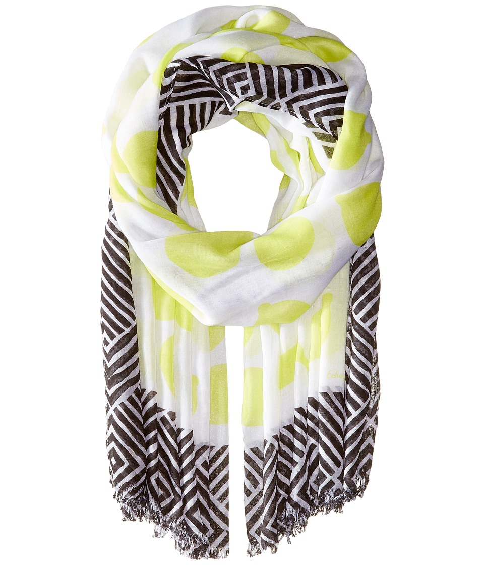 Echo Design - Tutti Frutti Wrap (White) Scarves