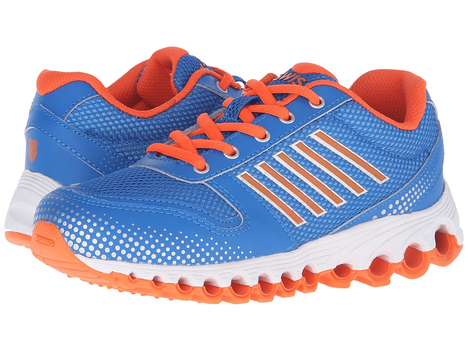 K-Swiss Kids - X-160 (Big Kid) (Brilliant Blue/Safety Orange Mesh) Kid's Shoes