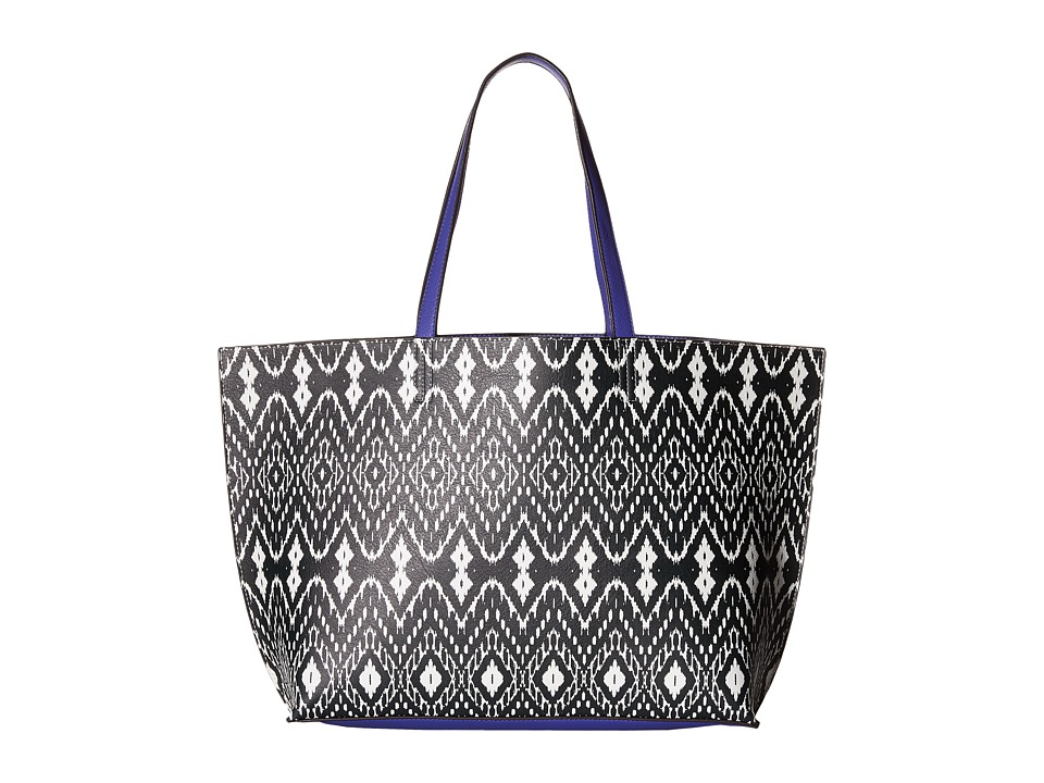 Echo Design - Ikat Essex Reversible Tote (Black/Dazzling Blue) Tote Handbags