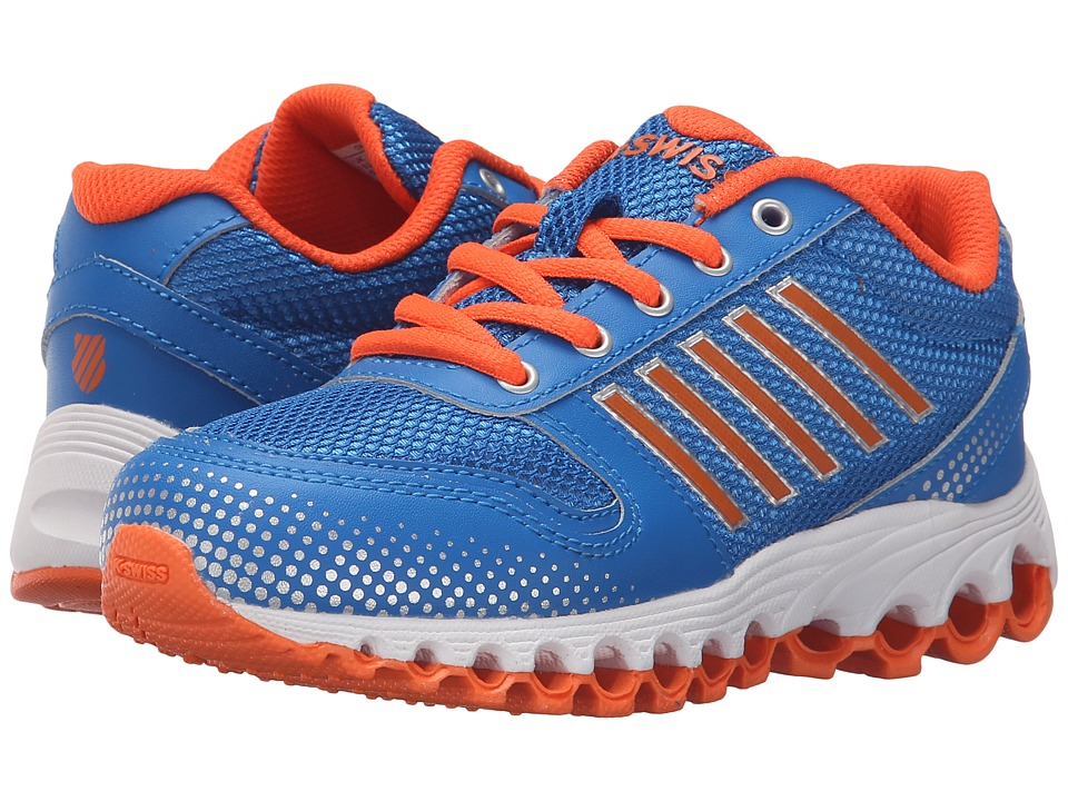 K-Swiss Kids - X-160 (Little Kid) (Brilliant Blue/Safety Orange Mesh) Kid's Shoes