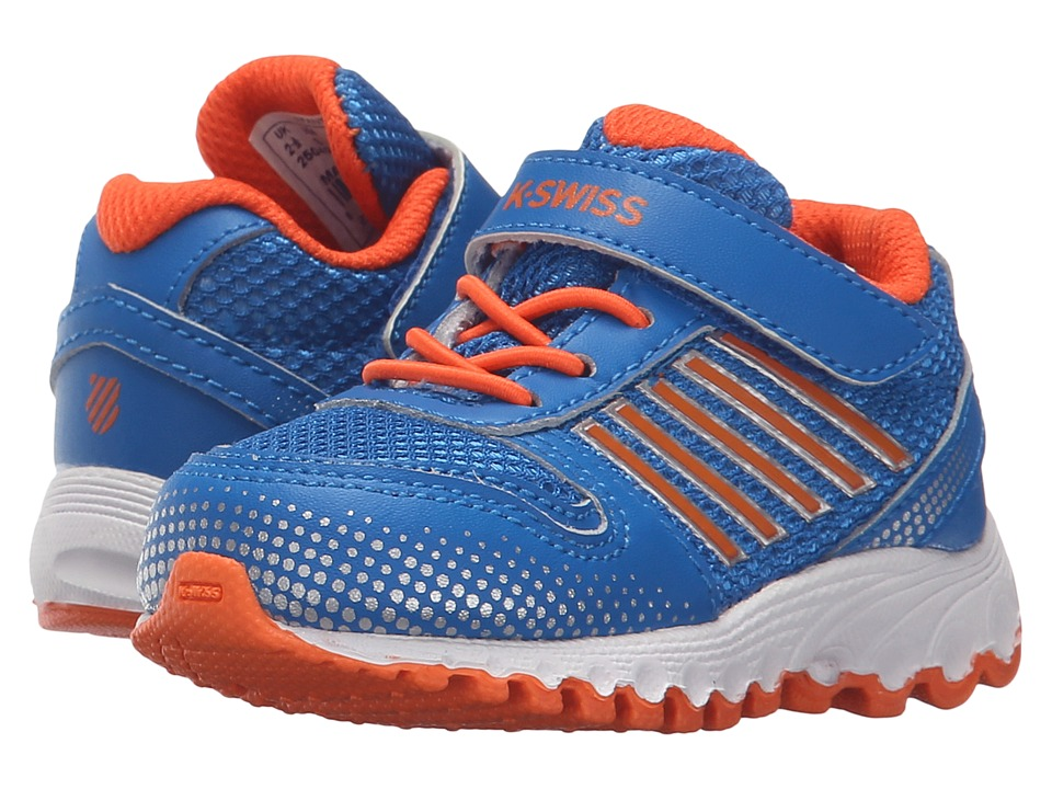 K-Swiss Kids - X-160 (Infant/Toddler) (Brilliant Blue/Safety Orange Mesh) Kid's Shoes