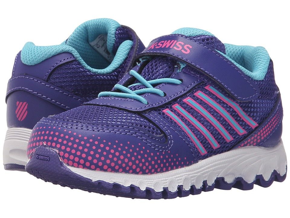 K-Swiss Kids - X-160 (Infant/Toddler) (Liberty/Neon Pink/Bachelor Button Mesh) Kid's Shoes
