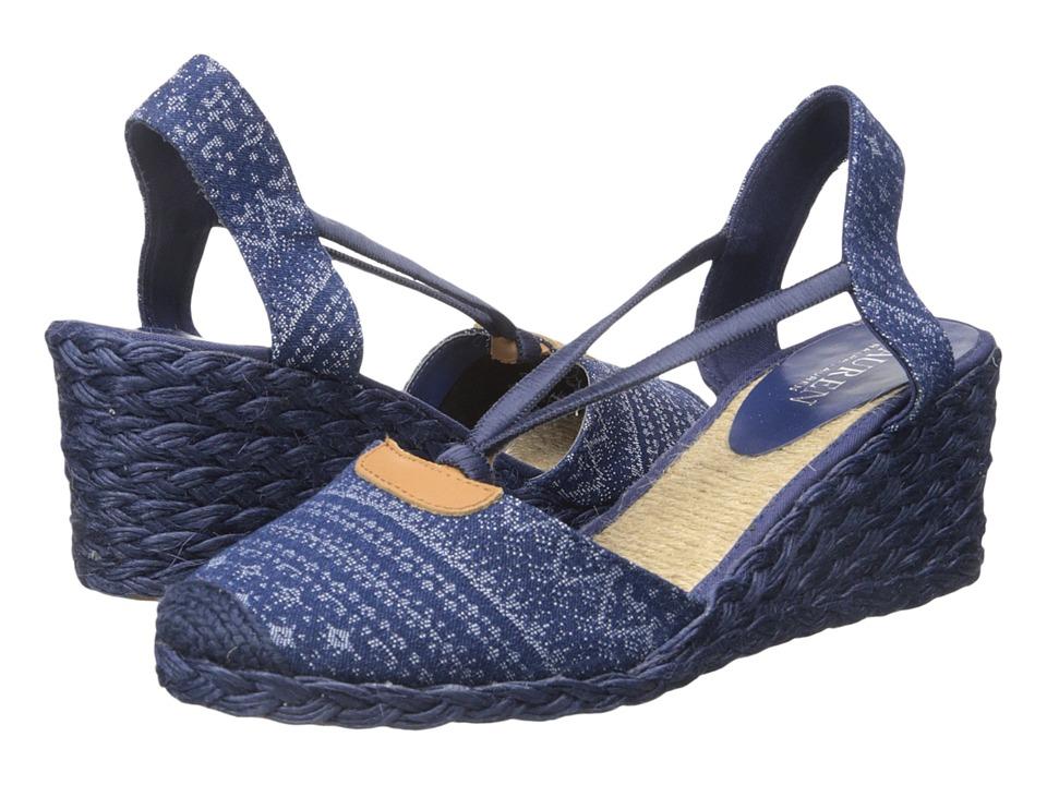 LAUREN Ralph Lauren - Cala (Indigo Multi/Denim Multi) Women's Wedge Shoes