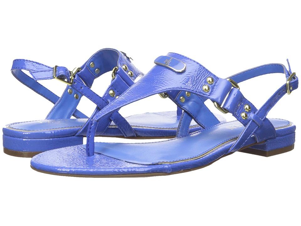 LAUREN Ralph Lauren - Valinda (Summer Blue Crinkle Soft Patent) Women