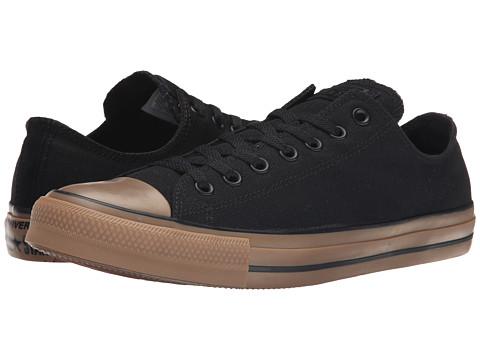 Converse - Chuck Taylor Ox (Black/Gum) Lace Up Cap Toe Shoes