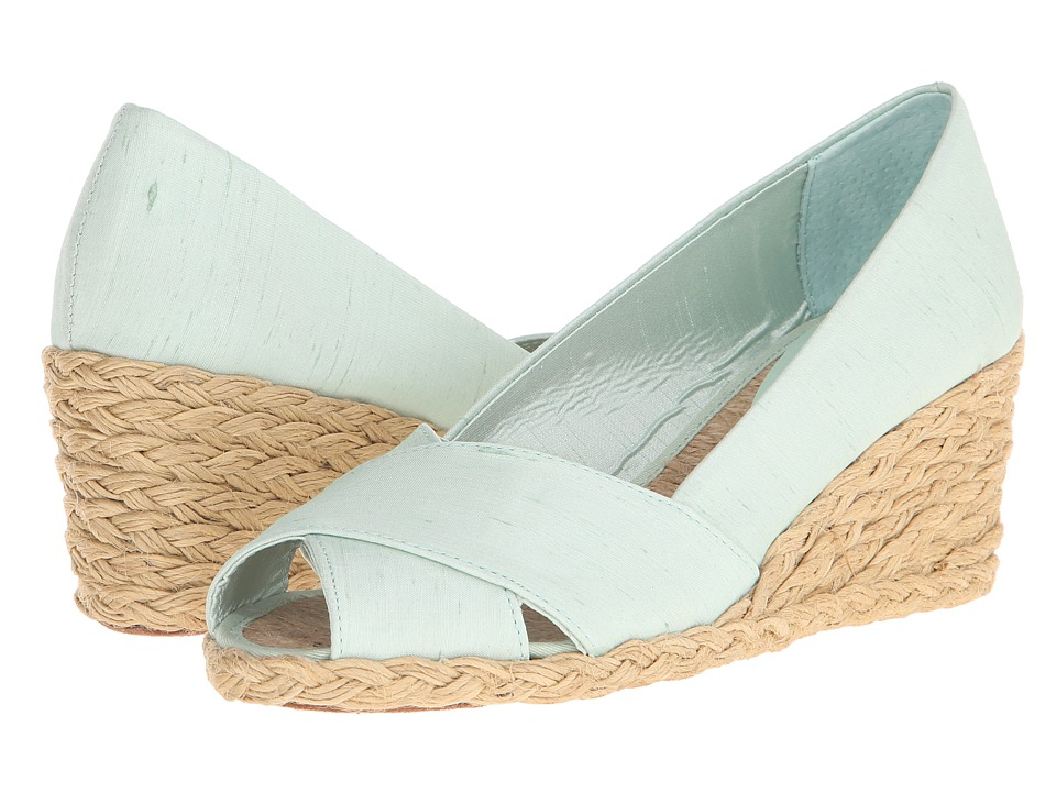 LAUREN Ralph Lauren - Cecilia (Mint Shantung) Women's Wedge Shoes