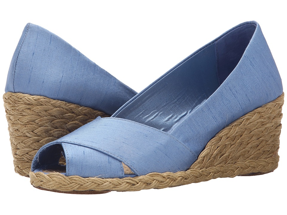 LAUREN Ralph Lauren - Cecilia (Denim Shantung) Women's Wedge Shoes