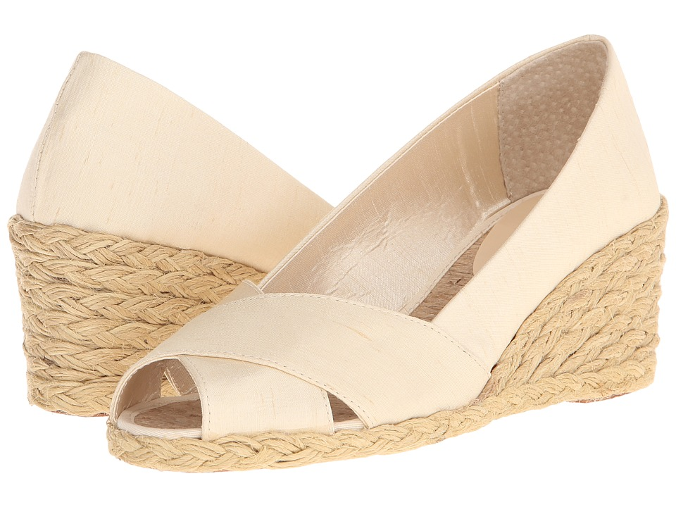 LAUREN Ralph Lauren - Cecilia (Silk Shantung) Women's Wedge Shoes