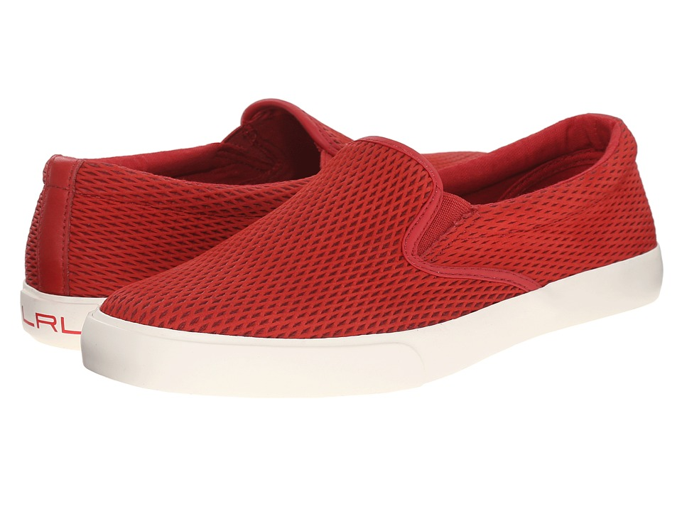 LAUREN Ralph Lauren - Cedar (Racing Red Diamond Grid Nubuck) Women's Slip on Shoes
