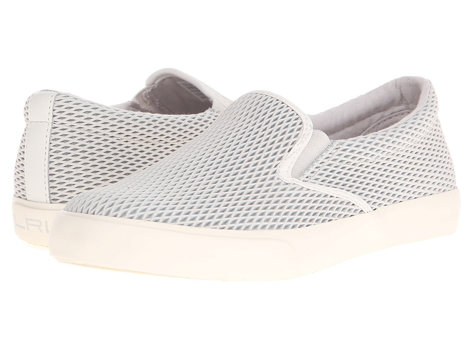 LAUREN Ralph Lauren - Cedar (Light Grey Diamond Grid Nubuck) Women's Slip on Shoes