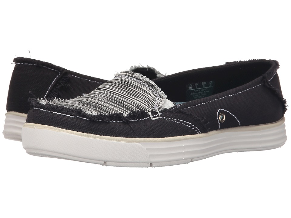 Dr. Scholl's - Waverly (Black Canvas Harmony) Women's Slip on Shoes