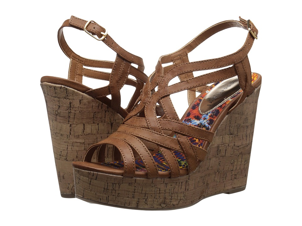 Madden Girl - Enroll (Cognac Paris) Women's Wedge Shoes