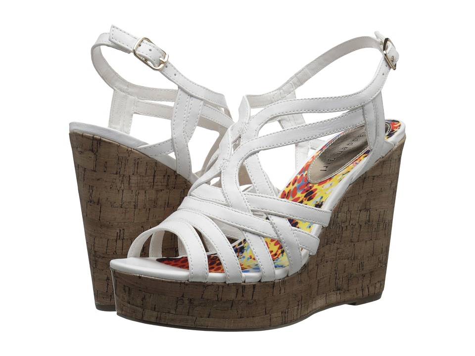 Madden Girl - Enroll (White Paris) Women's Wedge Shoes
