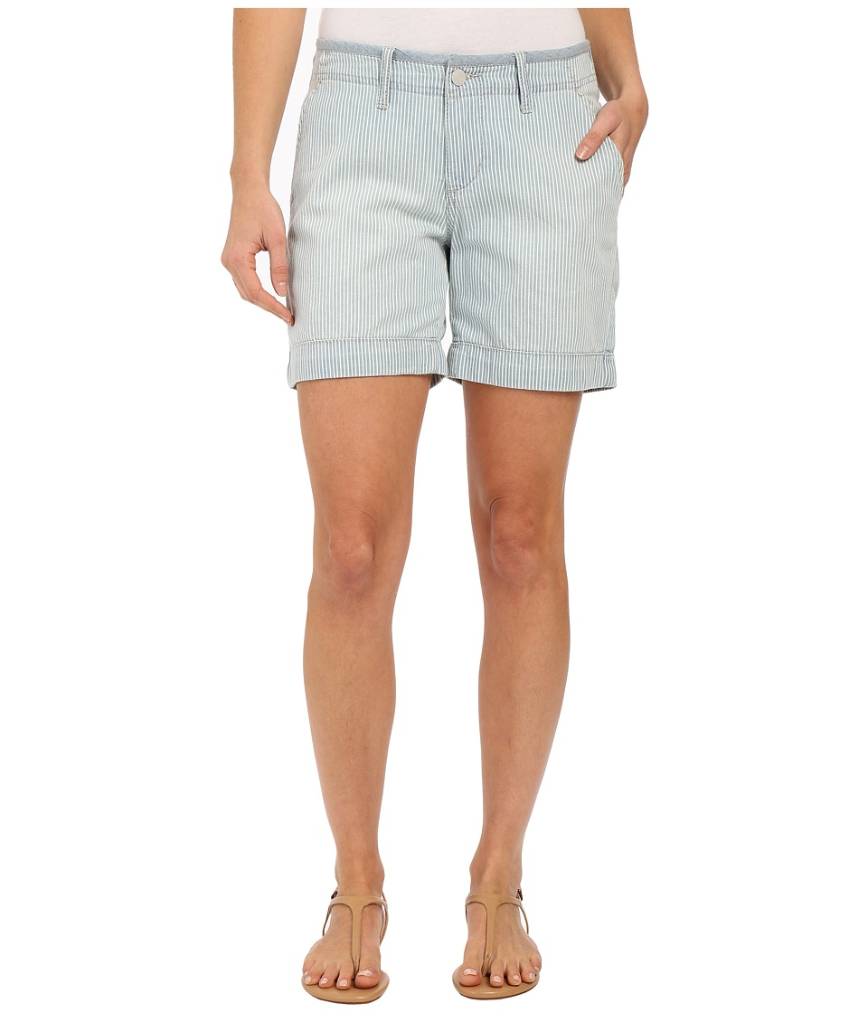 Jag Jeans - Albany Shorts in Lightweight Striped Denim in Bleach (Bleach) Women's Shorts