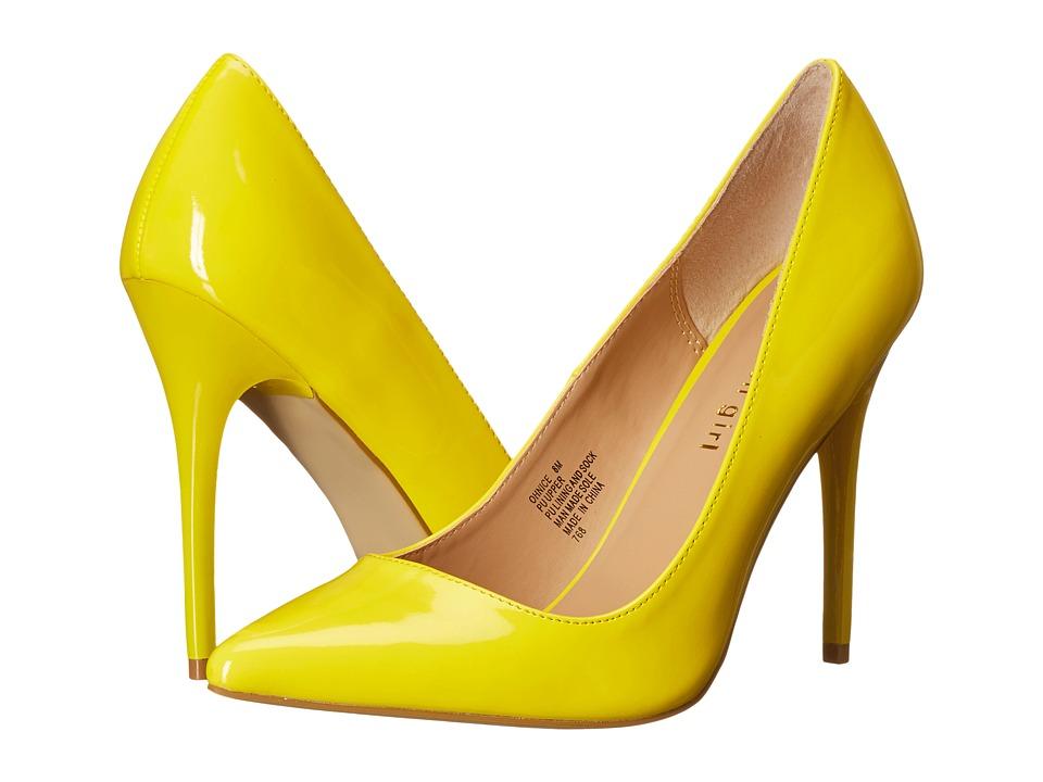 Madden Girl Ohnice (Yellow Patent) High Heels