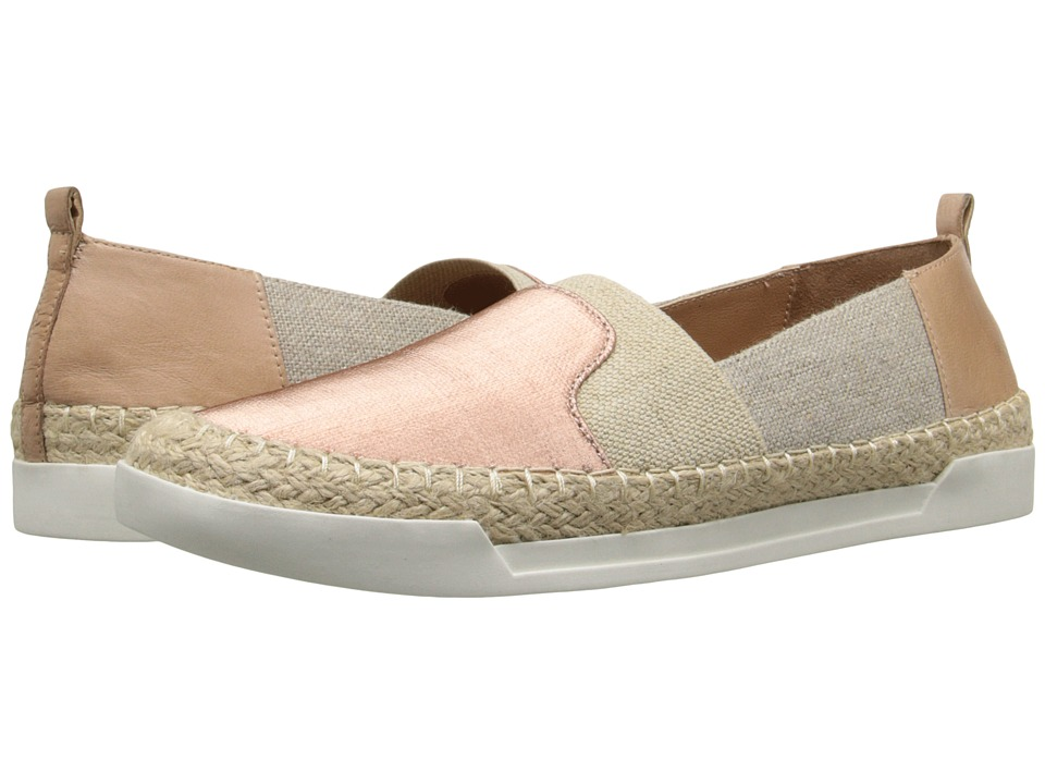 Tahari - Elie Tahari - Aruba (Rose/Natural/Natural/Dove Linen Elastic/Fabric/Waxy Wash) Women's Slip on Shoes