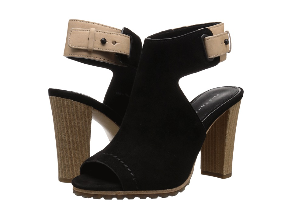 Tahari - Elie Tahari - Hallie (Black/Natural Cipro/Calf Crust) High Heels