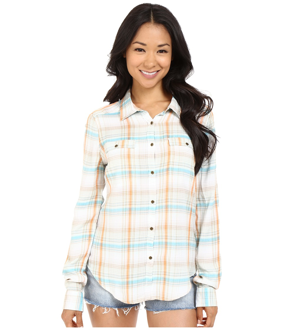 Roxy - Rock Star Button Down (Summer Plaid Festival Combo Bright White) Women's Clothing