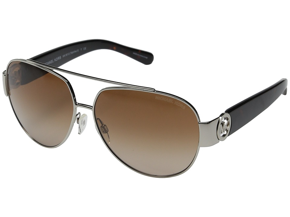 Michael Kors - Tabitha II (Silver Tortoise/Brown Gradient) Fashion Sunglasses