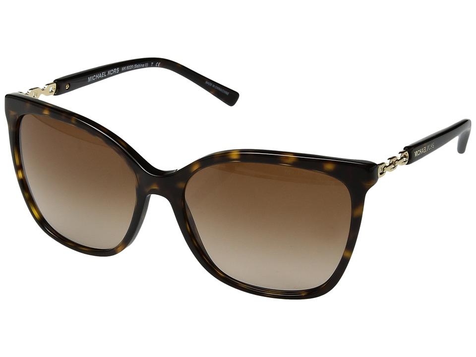 Michael Kors - Sabina II (Dark Tortoise/Gold/Brown Gradient) Fashion Sunglasses