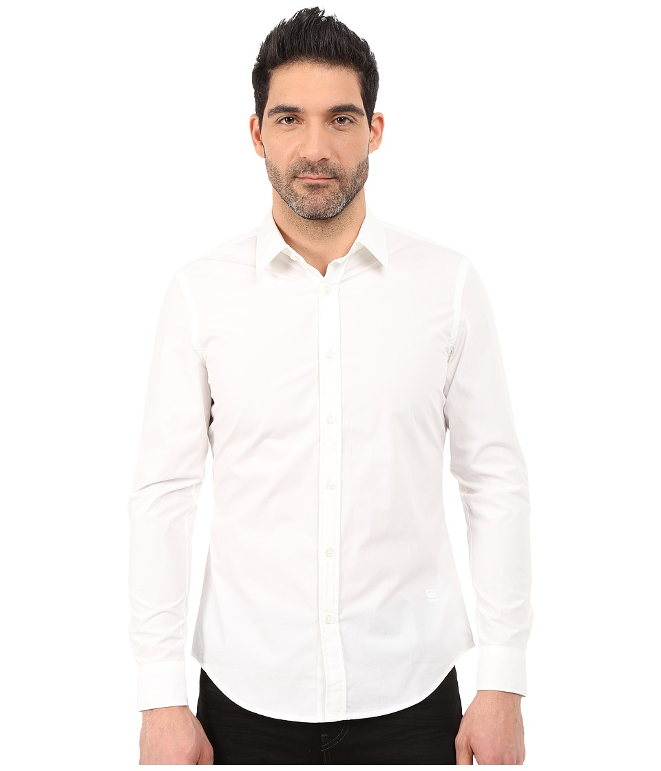 G-Star - Core Shirt (White) Men's Long Sleeve Button Up