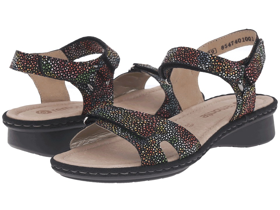 Rieker - D2751 Reanne 51 (Black Multi Flowerbed) Women's Sandals