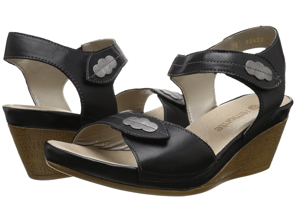 Rieker - D4856 Uschi 56 (Black/Grey/Black) Women's Wedge Shoes