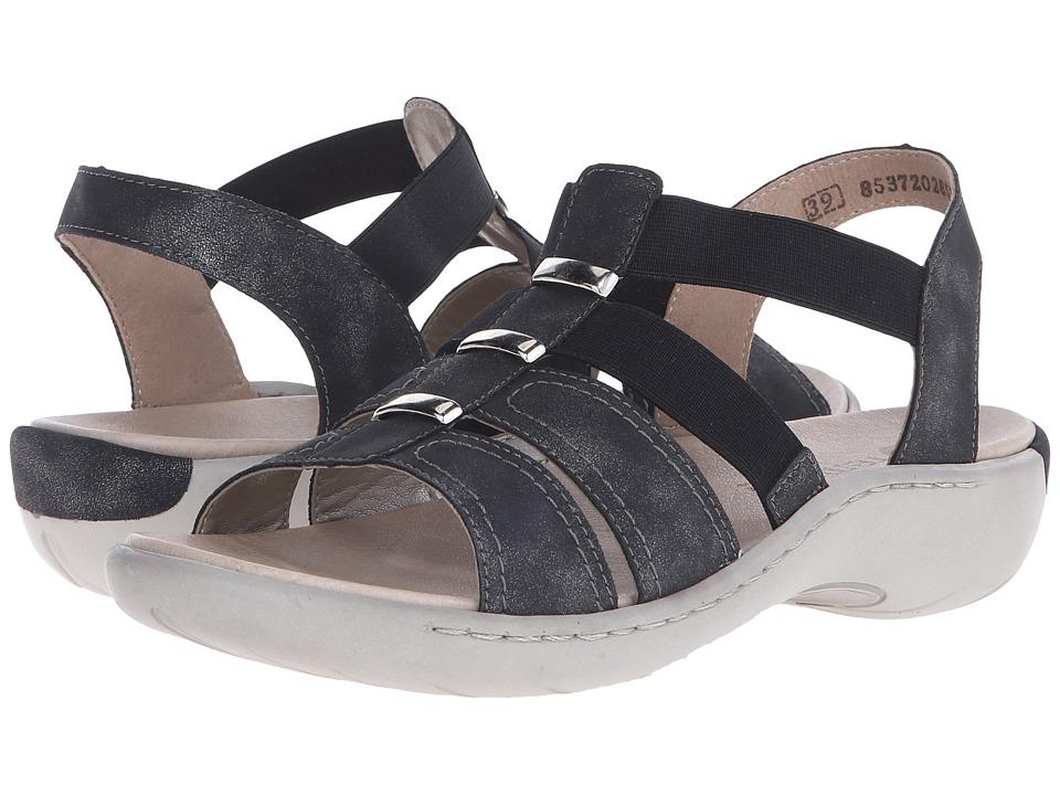 Rieker - R8561 Flippa 61 (Graphite) Women's Sandals