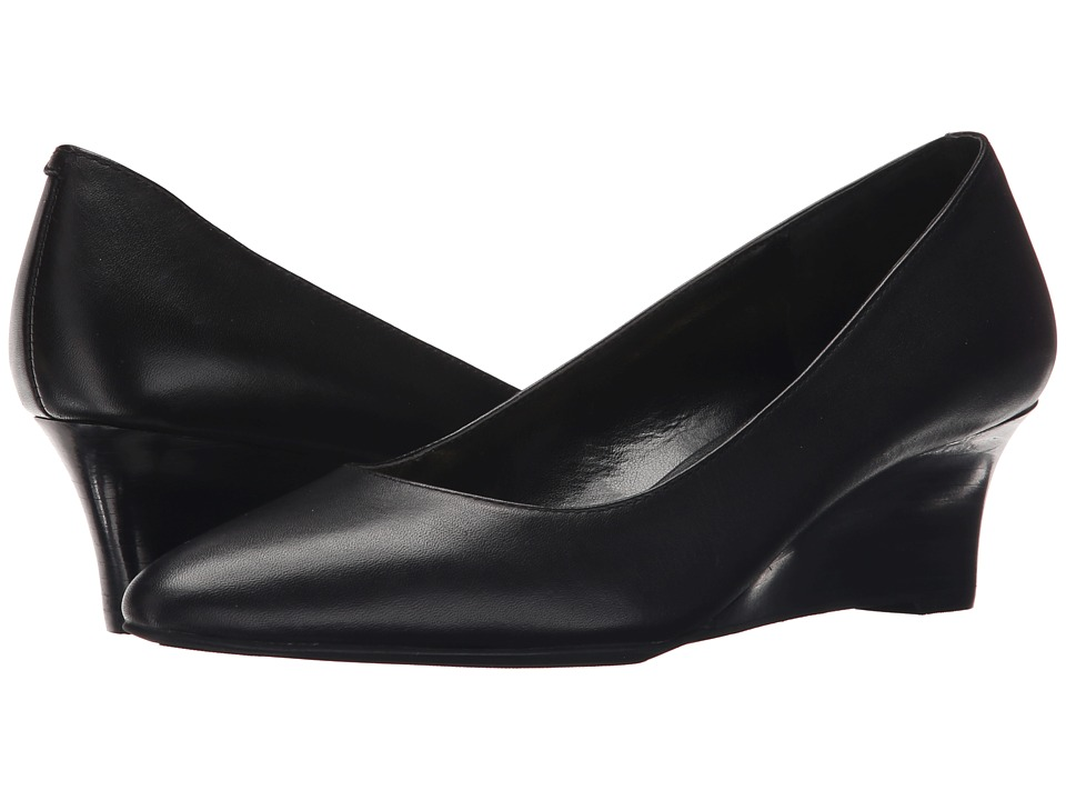 LAUREN Ralph Lauren - Haidee (Black Soft Burnished Calf) Women's Wedge Shoes