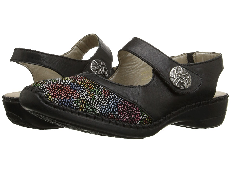 Rieker D1624 Doris 24 (Black Multi/Black) Women