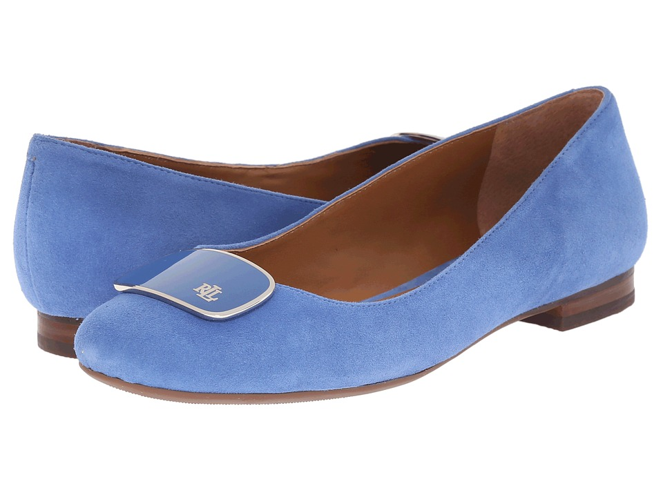 LAUREN Ralph Lauren - Camern (Summer Blue Kid Suede) Women's Slip on Shoes