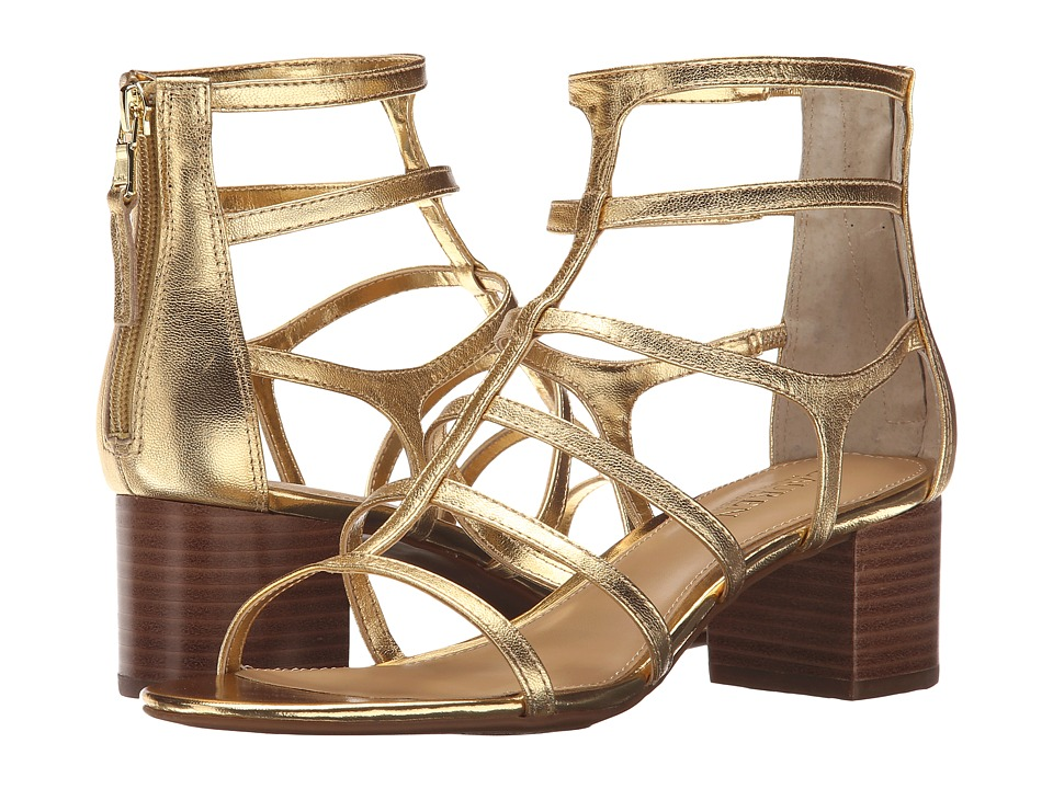 LAUREN Ralph Lauren - Madge (Ralph Lauren Gold Metallic Kidskin) High Heels